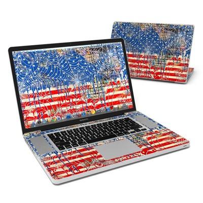 MacBook Pro 17in Skin - Cobweb Flag