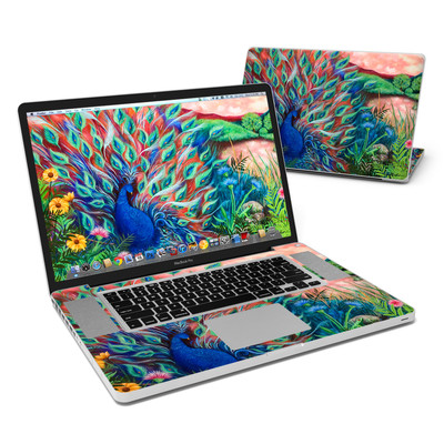 MacBook Pro 17in Skin - Coral Peacock