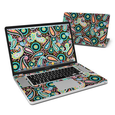 MacBook Pro 17in Skin - Crazy Daisy Paisley
