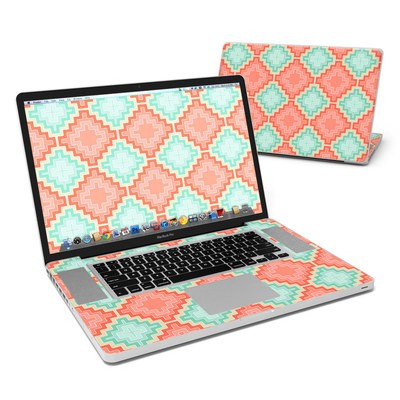 MacBook Pro 17in Skin - Coral Diamond