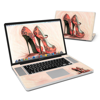 MacBook Pro 17in Skin - Coral Shoes