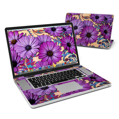 MacBook Pro 17in Skin - Daisy Damask