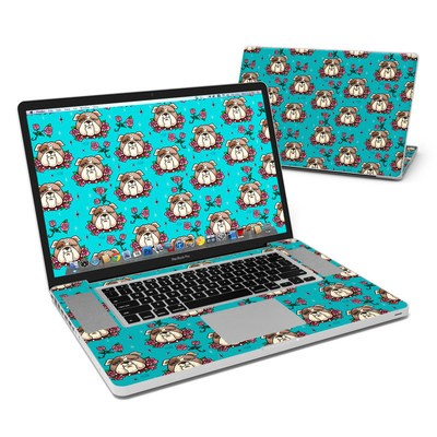 MacBook Pro 17in Skin - Bulldogs and Roses