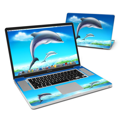 MacBook Pro 17in Skin - Dolphins