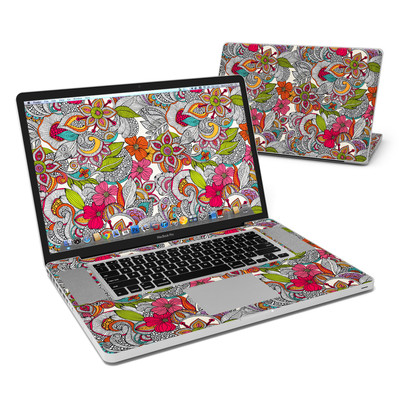 MacBook Pro 17in Skin - Doodles Color