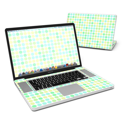 MacBook Pro 17in Skin - Big Dots Mint