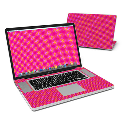 MacBook Pro 17in Skin - Dots Pink