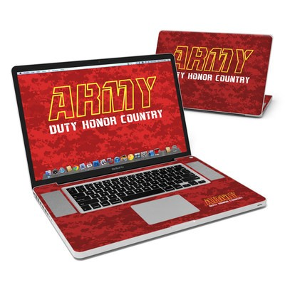 MacBook Pro 17in Skin - Duty and Honor