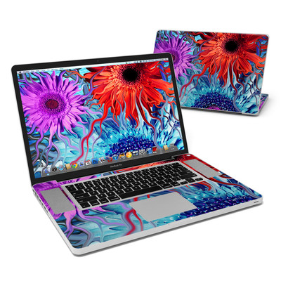 MacBook Pro 17in Skin - Deep Water Daisy Dance