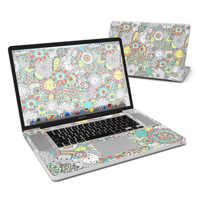 MacBook Pro 17in Skin - Faded Floral