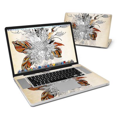 MacBook Pro 17in Skin - Fall Floral