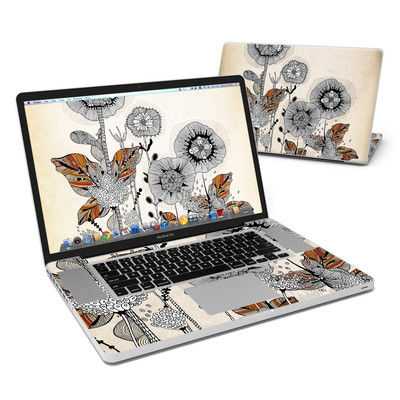MacBook Pro 17in Skin - Four Flowers