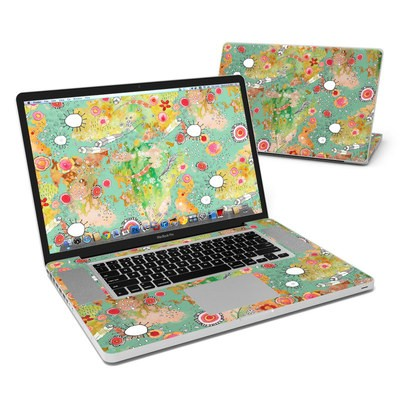 MacBook Pro 17in Skin - Feathers Flowers Showers