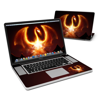 MacBook Pro 17in Skin - Fire Dragon