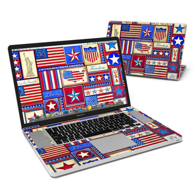 MacBook Pro 17in Skin - Flag Patchwork