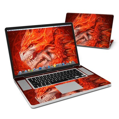MacBook Pro 17in Skin - Flame Dragon