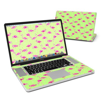 MacBook Pro 17in Skin - Flamingo Day