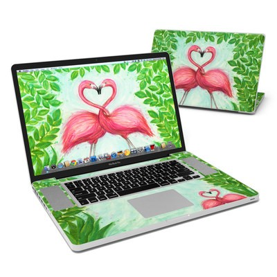 MacBook Pro 17in Skin - Flamingo Love