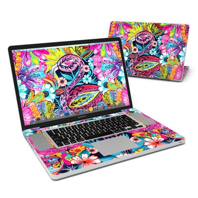 MacBook Pro 17in Skin - Flashy Flamingo