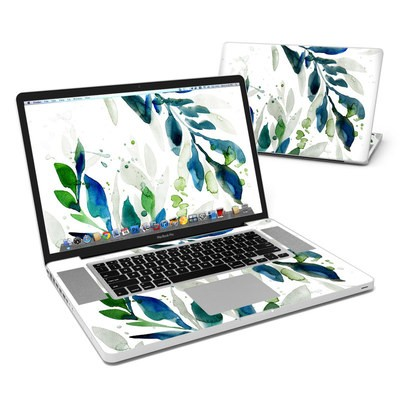 MacBook Pro 17in Skin - Floating Leaves