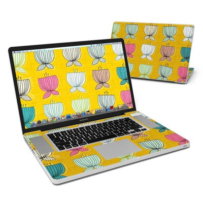 MacBook Pro 17in Skin - Flower Cups