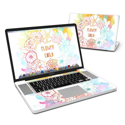 MacBook Pro 17in Skin - Flower Child
