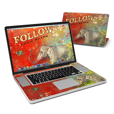 MacBook Pro 17in Skin - Follow Your Bliss