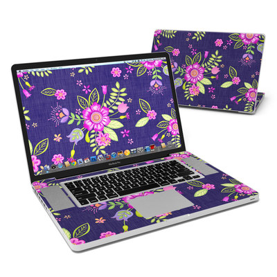 MacBook Pro 17in Skin - Folk Floral
