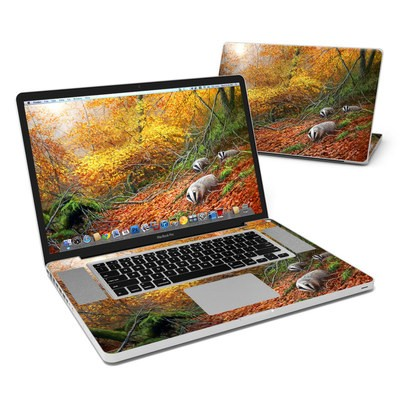 MacBook Pro 17in Skin - Forest Gold