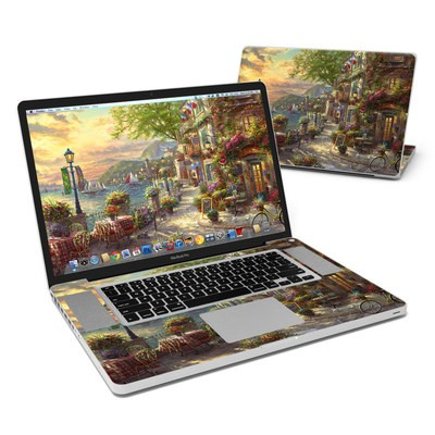MacBook Pro 17in Skin - French Riviera Cafe