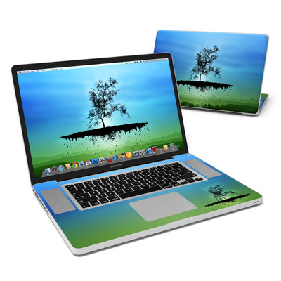 MacBook Pro 17in Skin - Flying Tree Blue