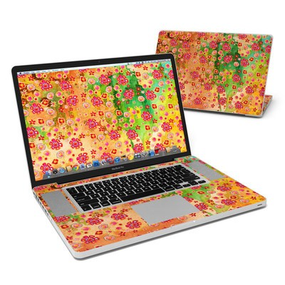 MacBook Pro 17in Skin - Garden Flowers