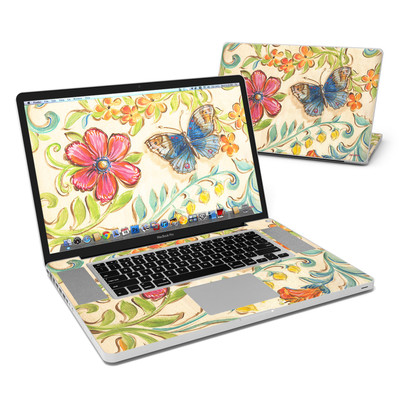 MacBook Pro 17in Skin - Garden Scroll