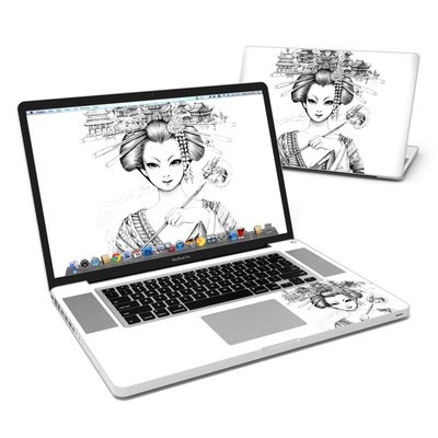 MacBook Pro 17in Skin - Geisha Sketch