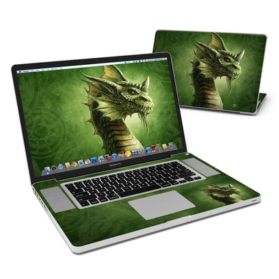 MacBook Pro 17in Skin - Green Dragon