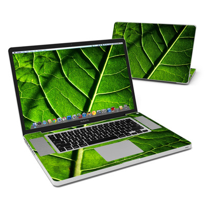 MacBook Pro 17in Skin - Green Leaf