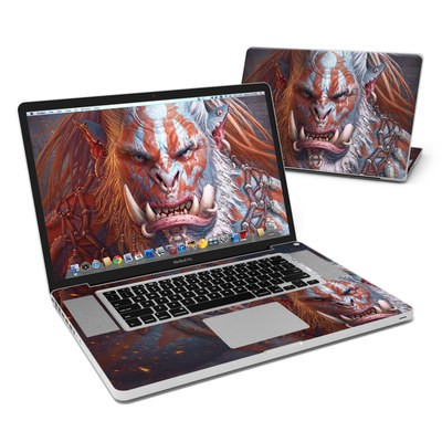 MacBook Pro 17in Skin - Gruddur Orangefist