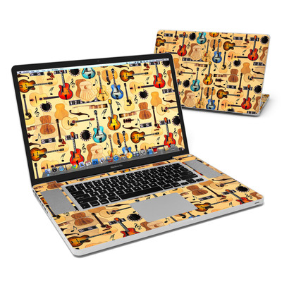 MacBook Pro 17in Skin - Guitar Collage