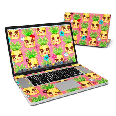 MacBook Pro 17in Skin - Happy Kawaii Pineapples