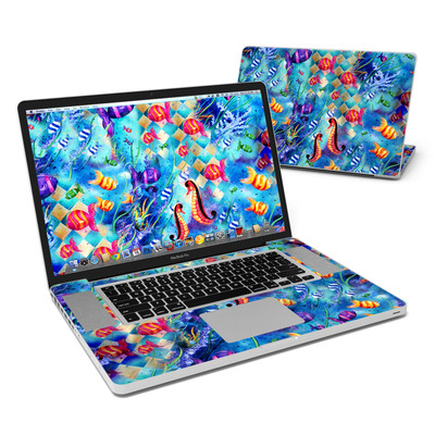 MacBook Pro 17in Skin - Harlequin Seascape
