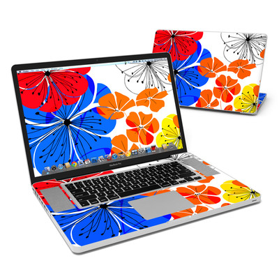 MacBook Pro 17in Skin - Hibiscus Dance