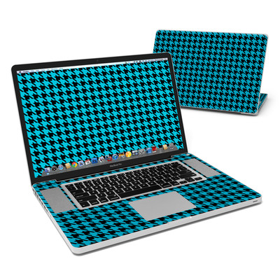 MacBook Pro 17in Skin - Teal Houndstooth