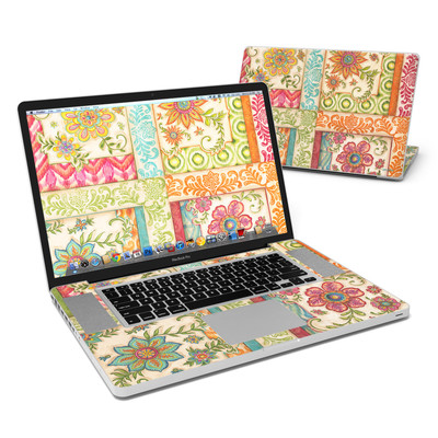 MacBook Pro 17in Skin - Ikat Floral