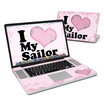 MacBook Pro 17in Skin - I Love My Sailor