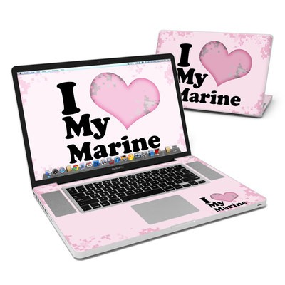 MacBook Pro 17in Skin - I Love My Marine