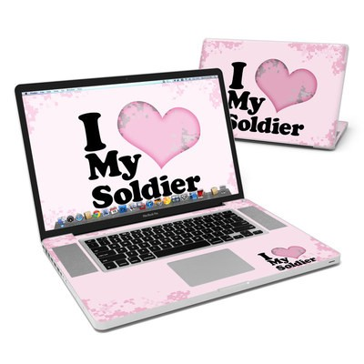 MacBook Pro 17in Skin - I Love My Soldier