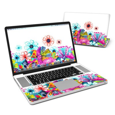 MacBook Pro 17in Skin - Intense Flowers
