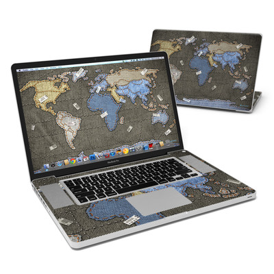 MacBook Pro 17in Skin - Jean Map