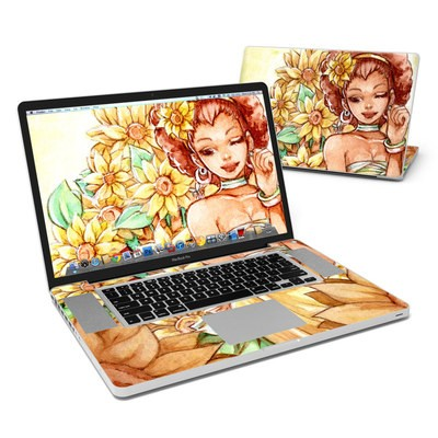 MacBook Pro 17in Skin - Lady Sunflower