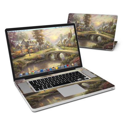 MacBook Pro 17in Skin - Sunset On Lamplight Lane